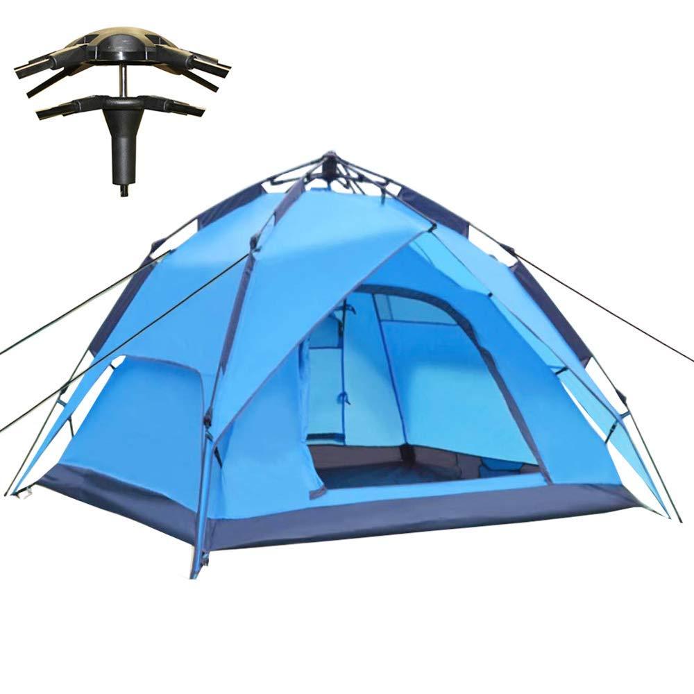 Tente Camping Tente Dôme Pop-up 3-4 Personnes Imperméable pour Les Randonnée en Plein Air et sur la Plage, avec InsTailletion Facile, 200 x 180 x 120 cm,bleu  -