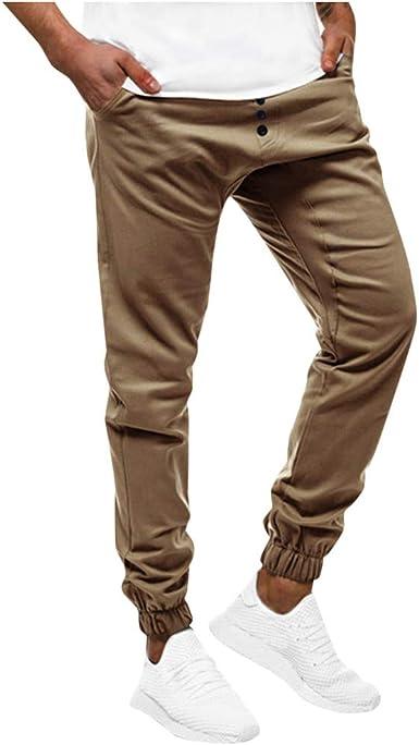 SUCES Pantalones chinos largos para hombre, para deporte ...