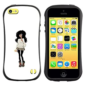 Be-Star Colorful Printed Design Anti-Shock Iface First Class Tpu Case Bumper Cover For Apple iPhone 5C ( black hair outfit fashion mini skirt cartoon ) Kimberly Kurzendoerfer