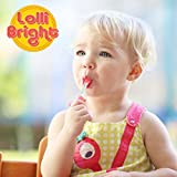 LOLLIBRIGHTS: America's First Color Changing Light-Up Lollipop! 6 Delicious Flavors; Green Apple Frog, Strawberry Rose, Smiley Lemon, Orange Goldfish, Blue Raspberry Bear, and Cherry Heart! (6)