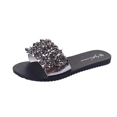 27a696f9e2ea Lolittas Summer Glitter Diamante Rhinestone Slipper Sandals for Women Ladies