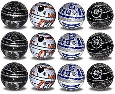 Death Star R2-D2 BB8 BB9E Golf Balls 12 pk