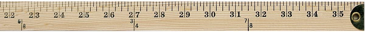 Westcott Wooden Yardstick with Hang Hole and Brass Ends, Clear Lacquer Finish (10425).