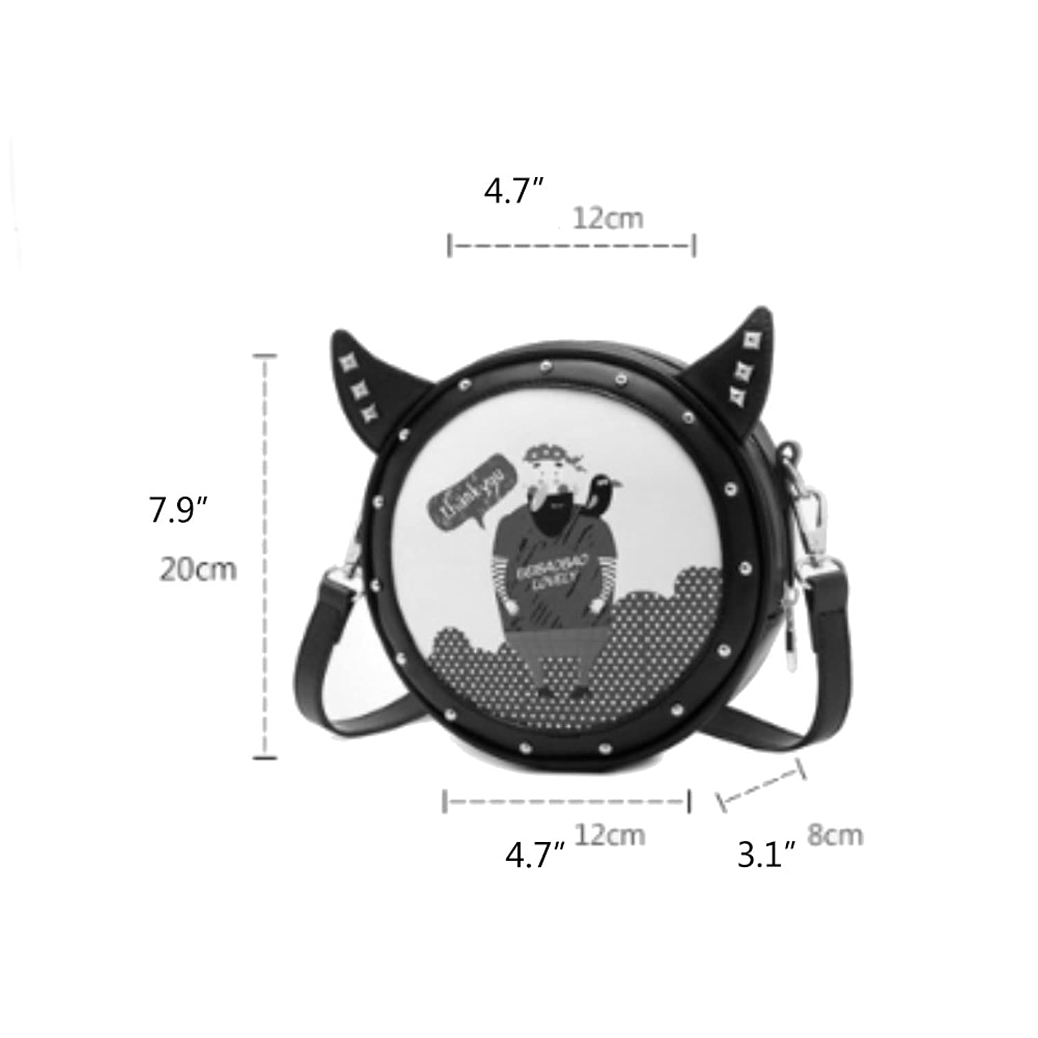 MAINLYCOR CHB880456 Fashion PU Leather Cute Cartoon Women's Handbag,Round Other