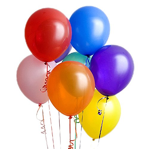 Party Balloons Wedding Supplies Home Decoration Balloons for Birthday Holidays Entertainment Balloons 100Pcs Latex Assorted Color Balloons 13