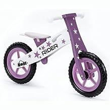 """Kobe Wooden Balance Bike """"Purple Rider"""" Purple and White"""