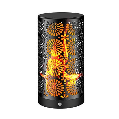LED parpadeante llama luz de llama recargable peque?a lš¢mpara de mesa parpadeo llama bombillas luces nocturnas decoraciš®n para fiesta Navidad para el ...