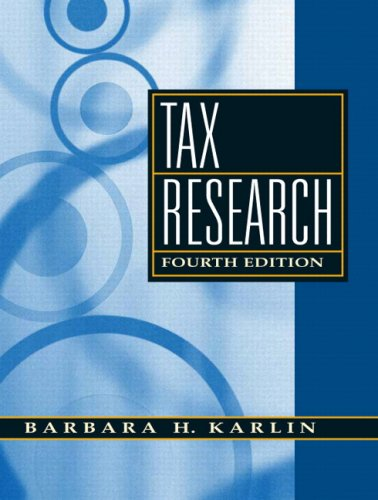 Pdf Law Tax Research (4th Edition)