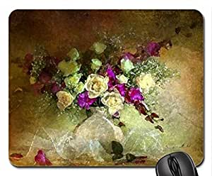 Still Life Mouse Pad, Mousepad (Flowers Mouse Pad, Watercolor style) by runtopwell