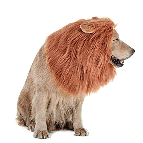 Lulu Home Dog Costume, Adjustable and Realistic Lion Mane for Dog Halloween Costumes