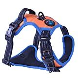 PHOEPET 2019 Reflective Dog Harness Large Breed Adjustable No Pull Vest with