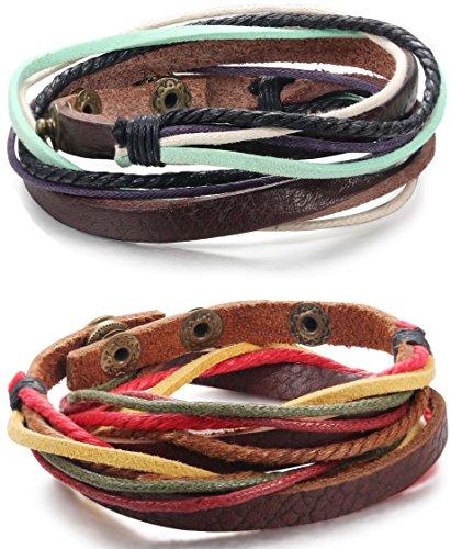 FIBO STEEL Braided Bracelet Adjustable