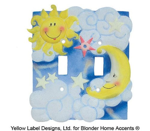 Blonder Home Nighty Nite Double Switch Plate