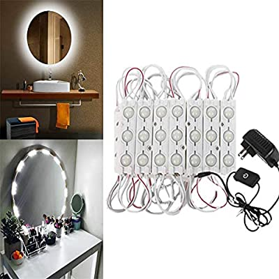 LED Mirror Light, Makeup Lights Kits for Vanity Touch Dimmer Switch 60 LEDs 9.8 FT, Mirror Not Included