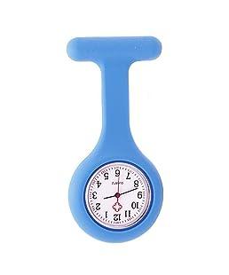 TrifyCore La túnica de Silicona médica cuida el Reloj con Pilas del diseño de la Correa del Reloj de Cuarzo a Prueba de Agua(Azul)