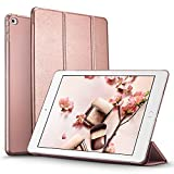 ESR Yippee Trifold Smart Case for iPad Mini 4, Lightweight Trifold Stand Case with Auto Sleep/Wake Function, Microfiber Lining, Hard Back Cover for Apple iPad Mini 4 (2015 Release) 7.9 inch_Rose Gold