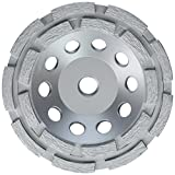 Lackmond SPPGC5DN SPP Series Double Row Cups - 5'' Wet/Dry Concrete Stone Coating Removal Tool with Double Row Configuration & 5/8''-11 Thread Arbor