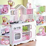 Constructive Playthings CPX-1032 Complete Lifestyle Wooden Play Kitchen with Accessories Set, Grade: kindergarten to 3