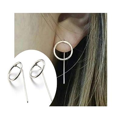 94878b4b04d82 Amazon.com: J Meng Geometric Circle Earrings for Women Hoop Earrings ...