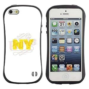 "Pulsar iFace Series Tpu silicona Carcasa Funda Case para Apple iPhone 5 / iPhone 5S , NYC New York City Amarillo Blanco"""