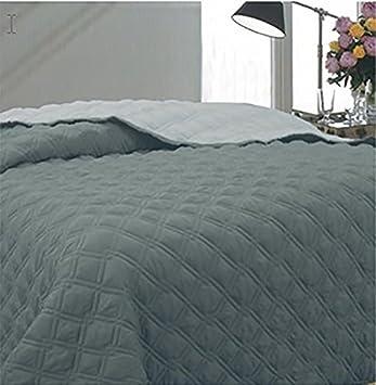 couvre lit marque italienne Couvre lit Lit Housse De Couette Réversible 2 couleurs Gris King  couvre lit marque italienne