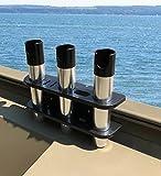 Brocraft Rod Holder for Tracker Boat – Versatrack System -3 Rods Storage —–Black Review