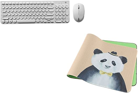 D DOLITY Kit Teclado inalámbrico de plástico Keyboard Bundle ...