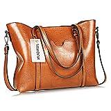 Women Bag Casual Vintage Shoulder Bag Handbags Cross Body Bag Large Capacity Bags Brown JUNDUN