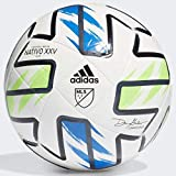 adidas MLS Nativo XXV Club Soccer Ball White/Solar Green/Glory Blue/Black 4