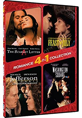 4-in-1 Romance Collection - The Scarlet Letter/Washington Square/Jefferson in Paris/Feast of July