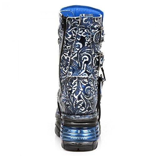 Nouvelles Bottes Rock M.373-s25 Gothique Punk Hardrock Unisexe Stiefel Blau