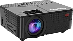 "OHDERII Projector,5600 Lumens Projector for Outdoor Movies with Maximum 200"" Display and 1080p Supported, 50,000 Hour Operating Life Compatible with HDMI, VGA and USB for Gaming and Movies"
