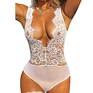075bc53818 Amazon.com  Women s See-through Lingerie Corset for Sex Play ...