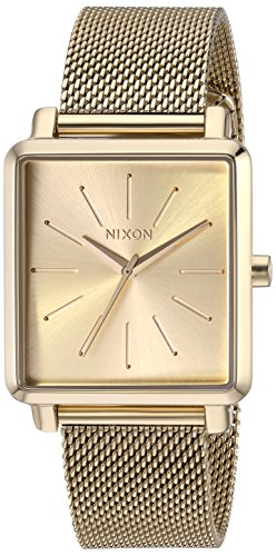 Nixon Women's K Squared Milanese Japanese-Quartz Watch with Stainless-Steel Strap, Grey, 19 (Model: A1206502)