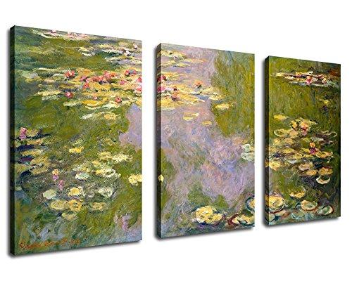 (Canvas Wall Art Decor Water Lilies 1919 Claude Monet Painting 30
