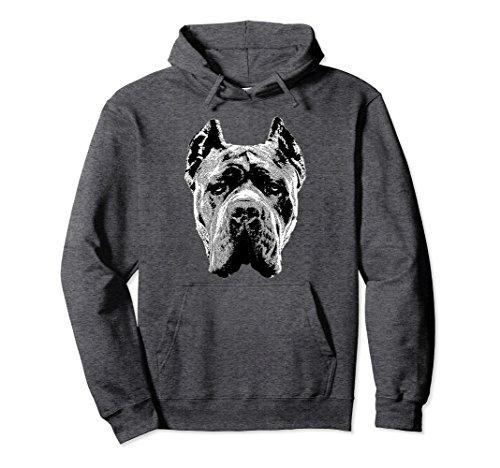 Unisex Cane Corso Hoodie Pullover Shirt Italian Mastiff Head Dog 2XL Dark (Mastiff Adult Sweatshirt)
