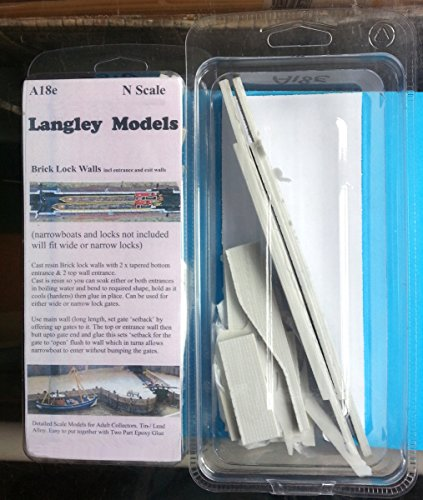 Langley Models Canal Lock Walls Brick Effect N Scale UNPAINTED Model Kit A18e
