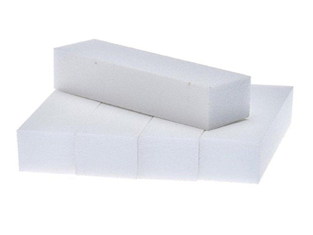 Sungpunet confezione da 5nail art buffer blocco file pedicure manicure lucidatura levigatura polacco (bianco) PHTL