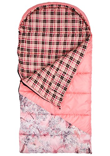 Pink Camouflage Sleeping Bag (King's Hunter Junior +25-Degree Sleeping Bag, Pink/Pink Shadow Camo)