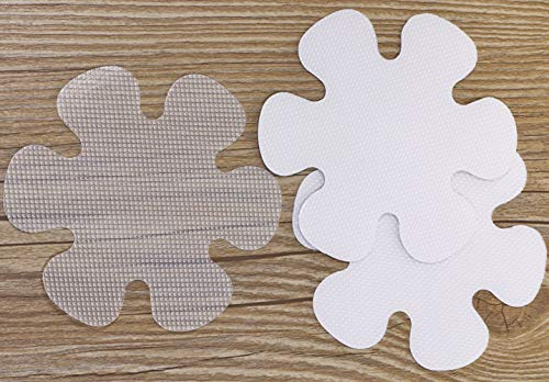 Mini Skater 15 Packs Flower Shape Anti Slip Bathtub Stickers Waterproof Transparent Safety Shower Self Adhesive Grip Treads for Kids Toddler Senior Kitchen Bathroom Swimming Pool Doorway (Flower) ()