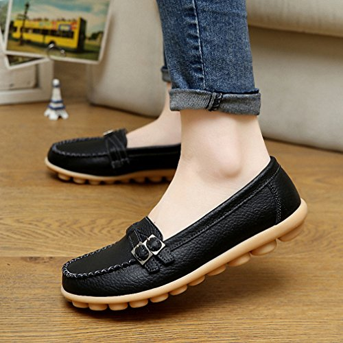 Women Shoes Woman New Casual Fashion NEW New Black Buckle Flat Comfortable Platform Female Style Loafers Peas Shoes