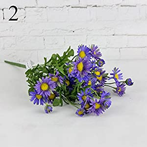 FYYDNZA Silk Daisy Chrysanthemum Artificial Flowers Wedding Decoration Fake Flowers Centerpiece Decor,2 105