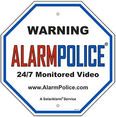 "Security Alert- Surveillance Sign - 24/7 Home & Business - No Trespassing Sign - Legend - Large 11.25"" X 11.25"" Octagon Rust Free 0.60 CCTV Sign"