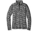 SmartWool Women's NTS Mid 250 Pattern Zip Top Black/Moonbeam Heather Large