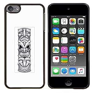 Dragon Case - FOR Apple iPod Touch 6 6th Generation - totem pole native American Indian - Caja protectora de pl??stico duro de la cubierta Dise?¡Ào Slim Fit