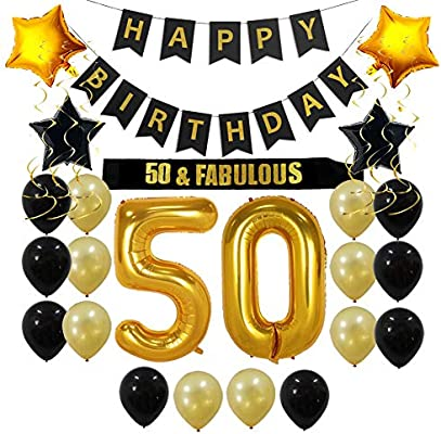 50th Birthday Decorations Party Supplies Gift For Men Women