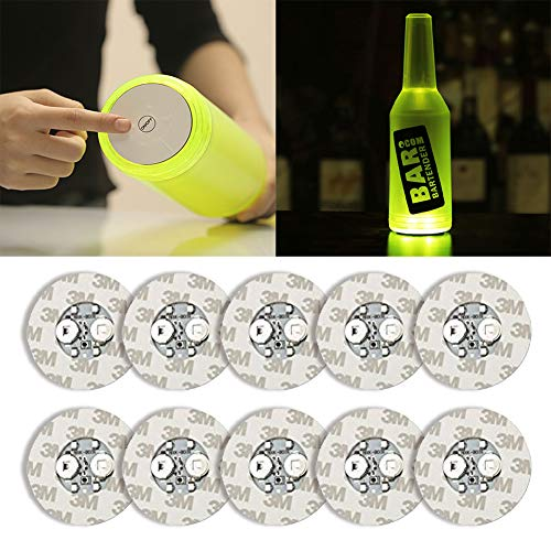 10Pcs LED Bar Coaster,LED Stickers,Light Up Bar Coasters For Drinks,Cup Holder Lights For Wine Liquor Bottle,Perfect For Party,Wedding,Bar (white)]()