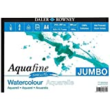 Daler Rowney - Jumbo Aquafine Smooth Watercolour Sketchbook - 300gsm - 50 Pages - A4 Landscape - Made in England