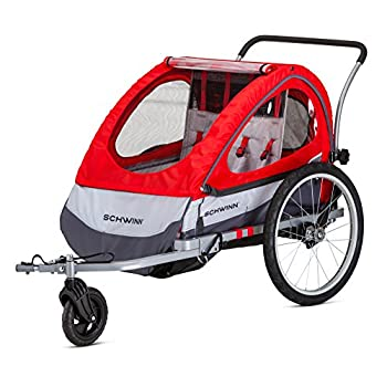 Image of Child Carrier Trailers Pacific Cycle Schwinn Trailblazer Double Bicycle Trailer