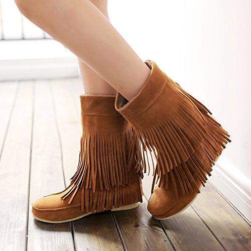 YL Women's Boots brown Size: 7 zq7sBbJnX